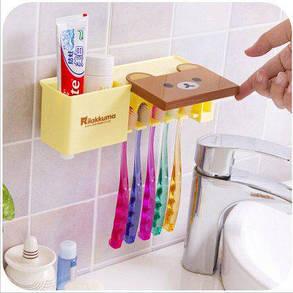 Набор для ванной Мишка ( держатель + дозатор пасты ), фото 2
