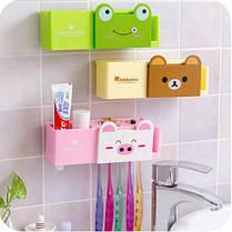 Набор для ванной Мишка ( держатель + дозатор пасты ), фото 3