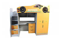 Ліжко-кімната в дитячу з ДСП/МДФ 1 + Комод 3 Viorina-Deko