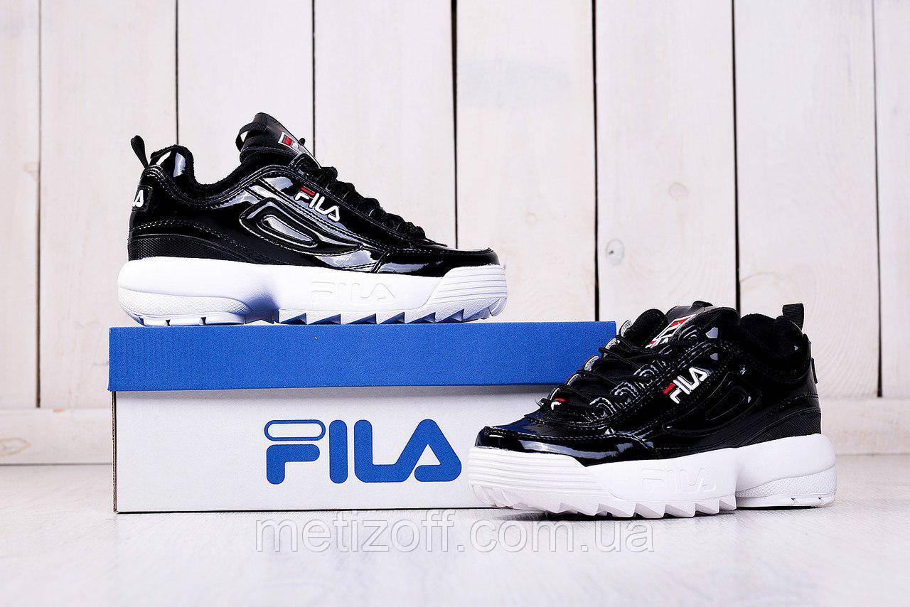 Женские кроссовки Fila Disruptor II черные с белым  продажа, цена в ... 4b6608c270d