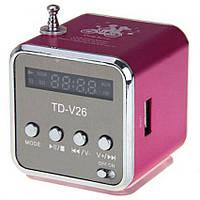 Портативная мультимедийная колонка мини куб TD-V26 с mp3 плеером