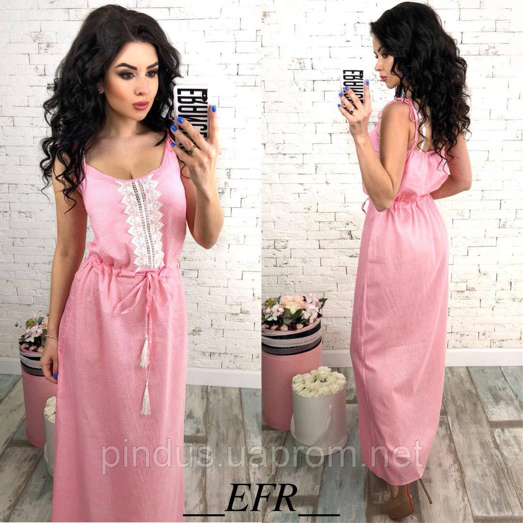 0f46528d91148 Женское летнее платье в пол, на бретельках. Длинный легкий сарафан - ЧП  Пиндус в