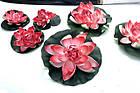Плавающая декоративная лилия AquaFall диаметр 30 см красная, фото 5