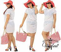 Пляжное платье,туника батал прошва 48-54 рр.
