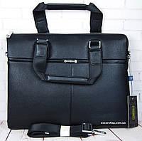 Кожаная мужская сумка Armani. Деловой мужской портфель Армани. Сумка под ноутбук.  СП08, фото 1