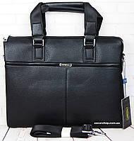 Кожаная мужская сумка Armani. Деловой мужской портфель Армани. Сумка для ноутбука.  СП08, фото 1