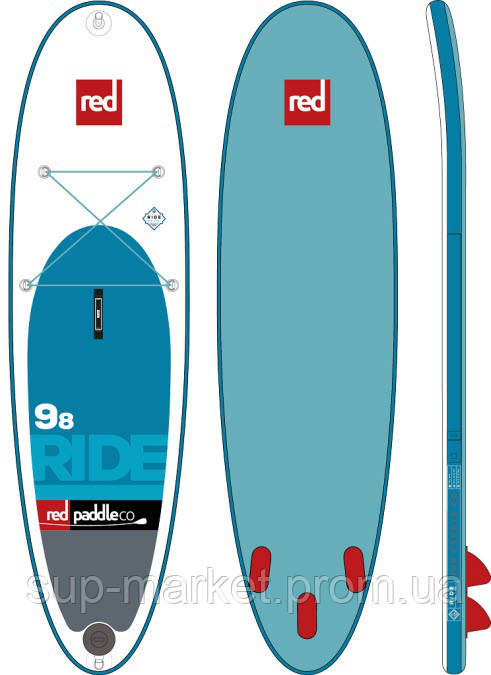 """SUP доска Red Paddle Co Ride 9'8"""" x 31"""", 2017"""