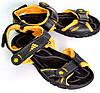 Сандалии спортивные подростковые для мальчика OK-7410 (черно-желтый)