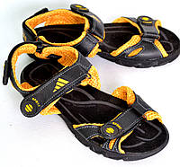 Сандалии спортивные подростковые для мальчика OK-7410 (черно-желтый), фото 1