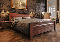 Ліжко з дерева (сосна, еврощит) Еліт NEW 140*190/200 ЧДК, фото 1