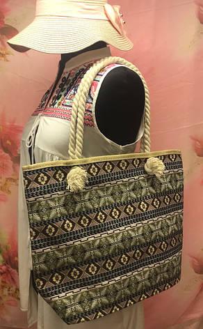 Пляжная женская сумка с интересным этническим узором, фото 2