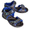 Сандалии спортивные подростковые для мальчика OK-7410 (черно-синий)