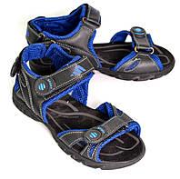 Сандалии спортивные подростковые для мальчика OK-7410 (черно-синий), фото 1