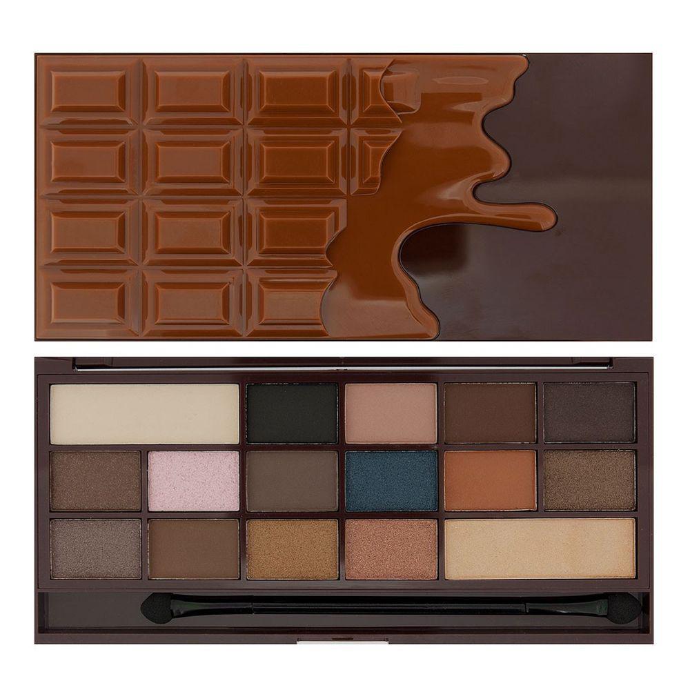 Палетка теней для век Makeup Revolution I Heart Chocolate Salted Caramel