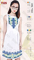 Заготівля жіночої сукні З-7029 габардин без рукавів
