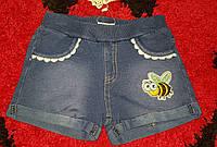 Шорты для девочек из легкого джинса 86-116