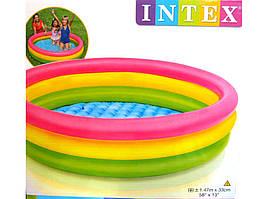 Детский надувной бассейн Радуга Intex 57422