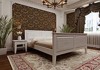 Кровать из дерева Майя 120*190/200 ЧДК (сосна, еврощит) с высоким изножием, фото 1