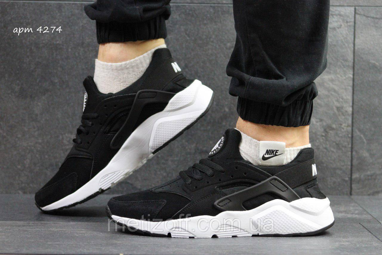 Мужские кроссовки Nike Huarache чорні з білим - Интернет-магазин одежды a48490db3d380