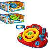 Автотренажер, руль детский обучающий M 1377 U, 26см, обуч(цвета), муз, свет, звук(укр)