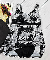 Черный сдельный купальник большого размера 48-56р