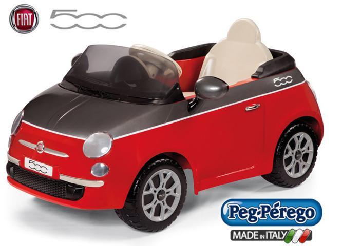 Детский Электромобиль Fiat 500 Red 6V без пульта, мощность 60W