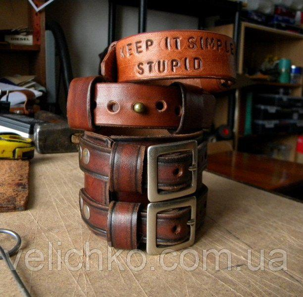 Кожаные  браслеты c надписью