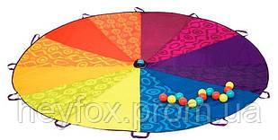 Командная игра Радужный парашют диаметр 245 см, в комплекте 15 пластиковых шариков Battat (BX1590Z)