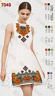 Заготовка жіночої сукні С-7049 габардин без рукавів