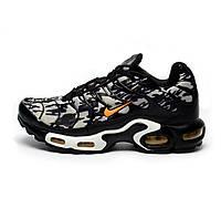 bbb0b9fb Кроссовки мужские Nike Air Max Nike Tn+ 1 Black\White\Gray топ реплика
