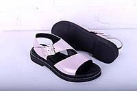 Босоножки на черной подошве цвет пудра, фото 1