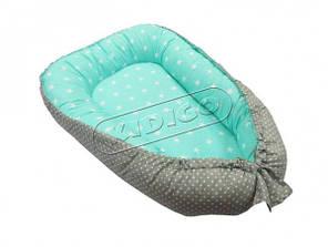 Кокон для новонароджених Kidigo (Зірочки та горошок)