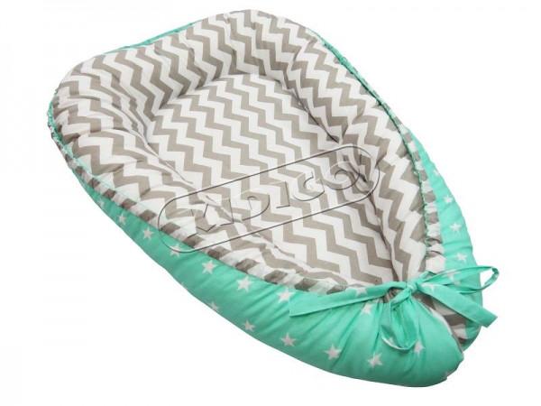 Кокон для новонароджених Kidigo (Зігзаги та зірочки)