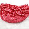 Трусики под памперс для девочки (размеры от 3 мес до 1.5 года) — Красные в крапинку