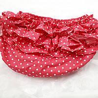 Трусики под памперс для девочки (размеры от 3 мес до 1.5 года) — Красные в крапинку, фото 1