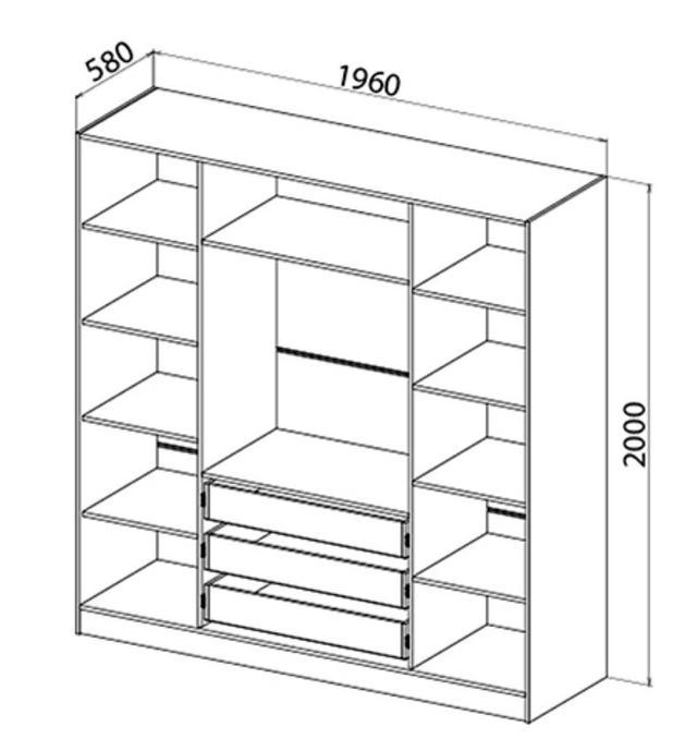 Шкаф Carrie D4 / Кери Д4 размеры