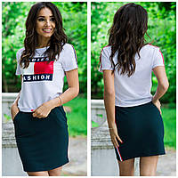 Женский костюм футболка с юбкой томми( Tommy Hilfiger ) реплика