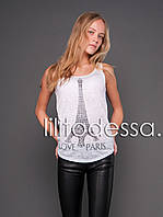 Майка Love Paris, фото 1