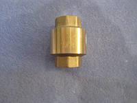 Обратный клапан латунный, пластиковый шток 1/2  бюджетный, фото 1