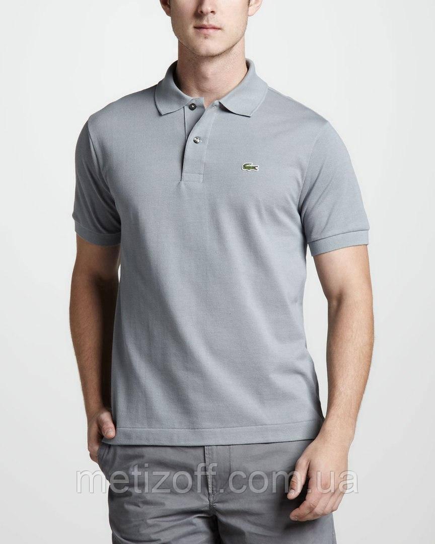 7ccdb001cb029 Модная серая футболка поло Lacoste - Интернет-магазин одежды, обуви и  аксессуаров MiroNis в