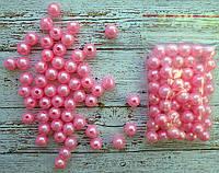Бусина 8 мм  № 06 (50шт) яскраво-рожева