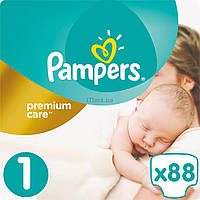 Подгузник Pampers Premium Care New Born Размер 1 (2-5 кг), 88 шт (4015400741602)