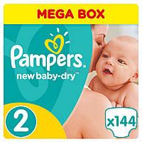 Подгузник Pampers New Baby-Dry Mini Размер 2 (3-6 кг), 144 шт (4015400737193)