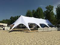Аренда Шатра Звезда 4 большой на 95кв.м по Украине - белый шатер, фото 1