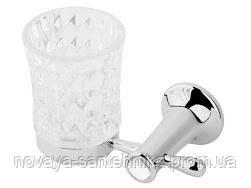 Стакан для зубних щіток хром, кристали