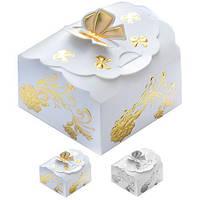 Бонбоньєрка (коробочка для цукерок) Jasmine N00514 в упаковці 2шт, 7 * 6.5 * 45см, бонбоньєрки, весільні бонбоньєрки, бонбоньєрки гостям, бонбоньєрки