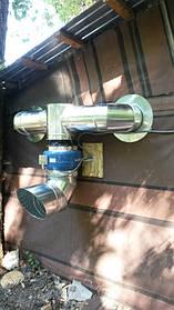 Вытяжная система горячего цеха кухни военного лагеря.