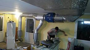 Процесс монтажа приточной системы вентиляции для охлаждения майнинговых ферм.
