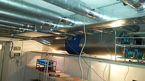 Процесс монтажа приточно-вытяжной системы вентиляции для охлаждения видеокарт.