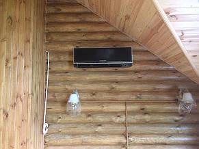 Монтаж настенной сплит-системы в деревянном срубе.